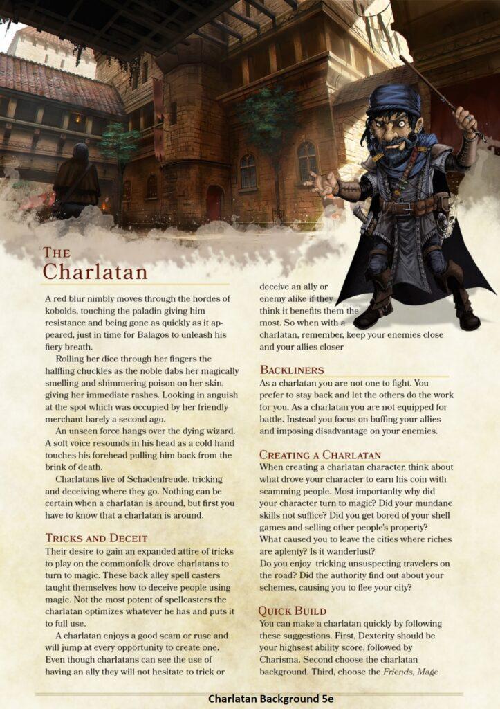 Charlatan Background 5e