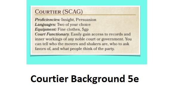 Courtier Background 5e