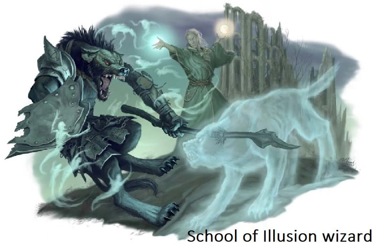 School of Illusion wizard