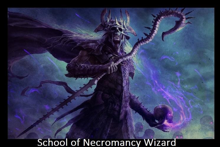 School of Necromancy wizard