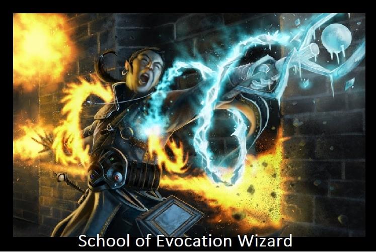 School of Evocation wizard